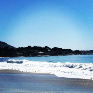 Beautiful beach at Carmel-by-the-Sea, California