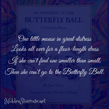 Butterfly Ball Quote Blue