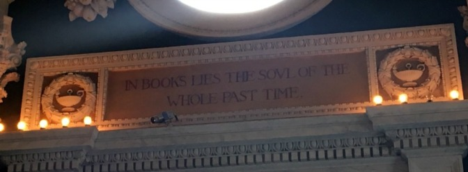 """Library of Congress. """"In books lies the soul of the whole past time."""""""