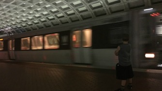 Metro train.